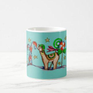 キャンデーのラマ コーヒーマグカップ