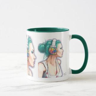 キャンデーのロッカーのコーヒーのマグのパンクの女の子のマグのヘッドホーンのマグ マグカップ