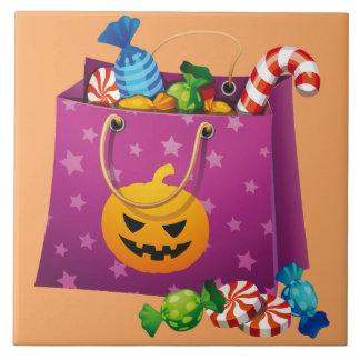 キャンデーの十分のハッピーハローウィンのバッグ タイル