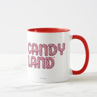 キャンデーの土地によって積み重ねられるロゴ マグカップ