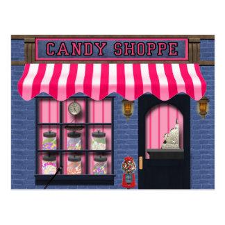 キャンデーの専門店の甘い御馳走郵便はがき ポストカード