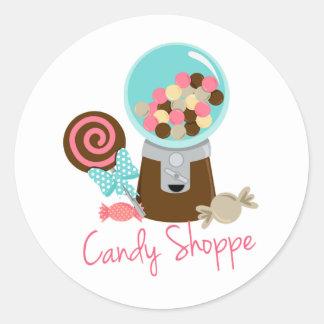 キャンデーの専門店のNeapolitanアイスクリームは菓子を扱います ラウンドシール