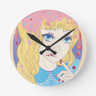 キャンデーの常習者のための完全なコース ラウンド壁時計