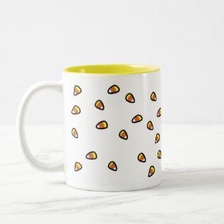 キャンデーのCorns (白い) ツートーンマグカップ