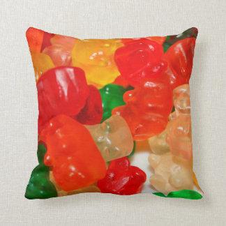キャンデーは多彩で赤い緑食糧菓子に耐えます クッション