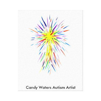 キャンデーは自閉症の芸術家に水をまきます キャンバスプリント