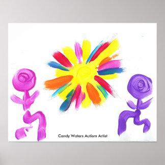 キャンデーは自閉症の芸術家に水をまきます プリント