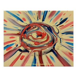 キャンデーは自閉症の芸術家に水をまきます ポスター