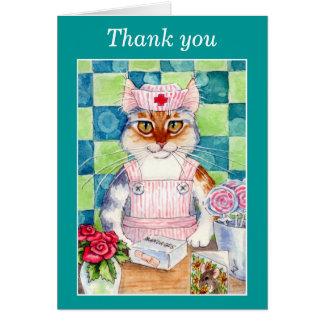 キャンデーストライパーのナース猫のサンキューカード カード