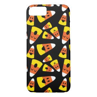 キャンデートウモロコシのオレンジハロウィン幸せでにこやかなパターン iPhone 8/7ケース