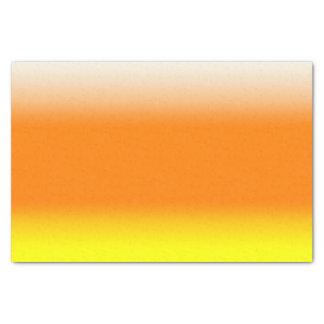 キャンデートウモロコシのグラデーションな勾配の白いオレンジ黄色 薄葉紙
