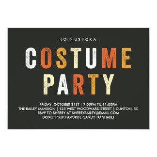 キャンデートウモロコシのハロウィンの衣裳のパーティの招待状 カード