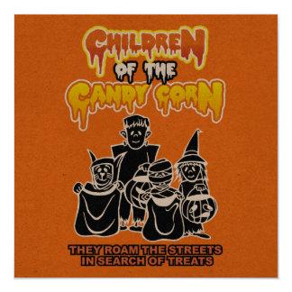 キャンデートウモロコシの子供: ハローウィンパーティ 13.3 スクエアインビテーションカード