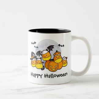 キャンデートウモロコシの生き物 ツートーンマグカップ