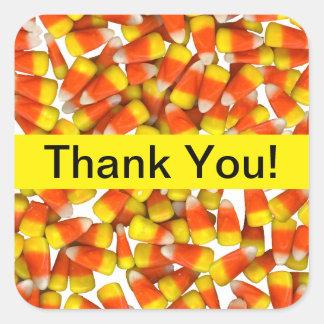 キャンデートウモロコシ-ステッカーありがとう スクエアシール