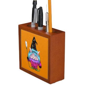 キャンデーペット1人のハロウィンかわいい外国モンスターのオーガナイザー ペンスタンド