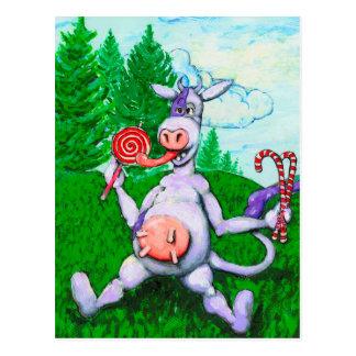 キャンデー牛 ポストカード