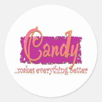 キャンデー-すべてをよりよくさせます ラウンドシール