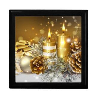キャンドルライトのクリスマス ギフトボックス