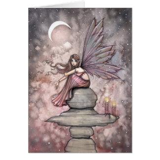 キャンドルライトのモーリーハリスンによる妖精の挨拶状 カード