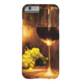 キャンドルライトのワイン及び緑のブドウのガラス BARELY THERE iPhone 6 ケース