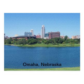 キャンバスのオマハ、ネブラスカのスカイライン ポストカード