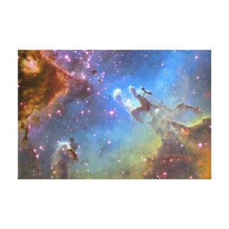 """キャンバスのハッブルの望遠鏡""""ワシ星雲""""の キャンバスプリント"""