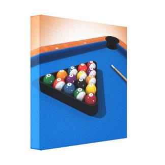 キャンバスのプリント: 玉突の玉/ビリヤード キャンバスプリント