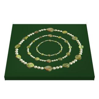 キャンバスのプリント-真珠および石 キャンバスプリント
