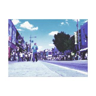 キャンバスのロンドンキャムデンの写真の写真の通り キャンバスプリント