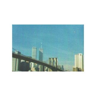 キャンバスの前にニューヨークの9/11/01スカイライン キャンバスプリント