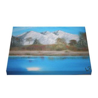 キャンバスの山の絵画 キャンバスプリント