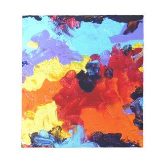 キャンバスの抽象的なアクリルの絵画 ノートパッド