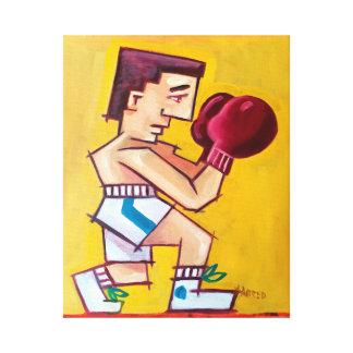 キャンバスの抽象的なボクサーの絵画 キャンバスプリント