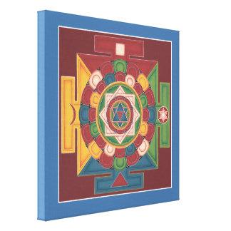 キャンバスの正方形- 5つの要素の曼荼羅 キャンバスプリント