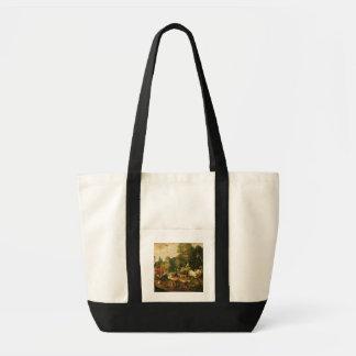 (キャンバスの油)エデンの園 トートバッグ