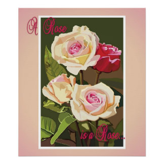 キャンバスの芸術の印刷物バラ ポスター