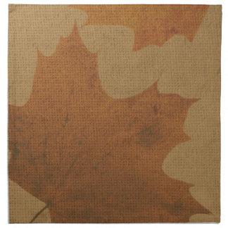 キャンバスの葉 ナプキンクロス