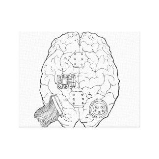 キャンバスの頭脳のスケッチ キャンバスプリント