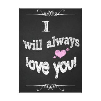 キャンバスの黒板の芸術を結婚するバレンタインデー キャンバスプリント