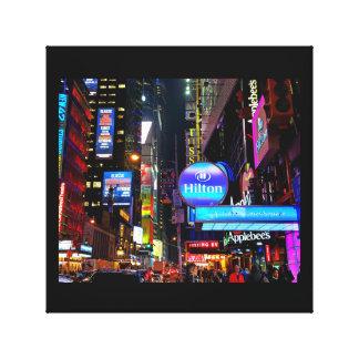 キャンバスの…タイムズ・スクエア、ニューヨーク キャンバスプリント
