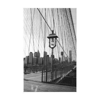 キャンバスのB&Wのブルックリン橋ランプ キャンバスプリント