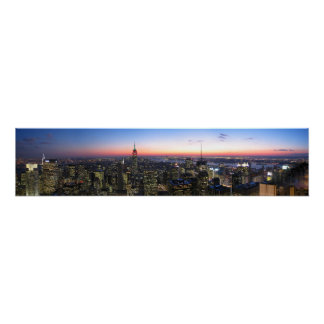 キャンバスのNYCニューヨークシティ ポスター