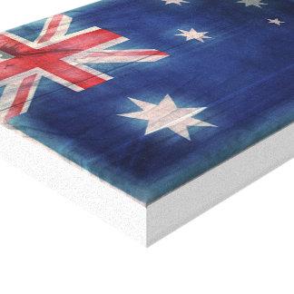 キャンバスのWoodgrainのヴィンテージのオーストラリアの旗 キャンバスプリント