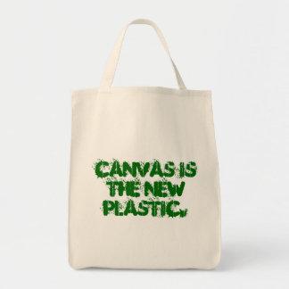 キャンバスは新しいプラスチックです トートバッグ