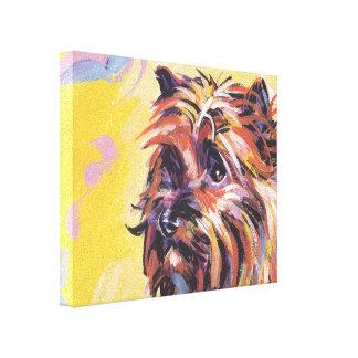 キャンバスプリントのケアーン・テリアの破裂音犬の芸術 キャンバスプリント