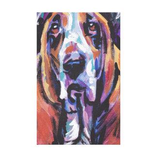 キャンバスプリントのバセットハウンドの破裂音犬の芸術 キャンバスプリント
