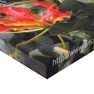 キャンバスプリントのRhodesianの炎Lilly キャンバスプリント