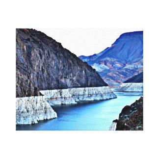 キャンバスプリント-コロラド川のthroのフーバー・ダム キャンバスプリント
