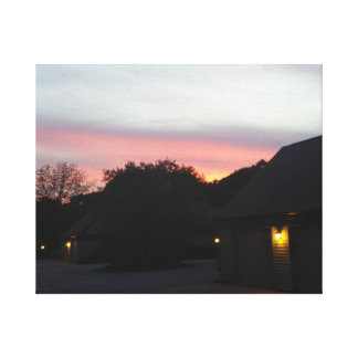 キャンバスプリント、影の農場Cltnの夜場面1 キャンバスプリント